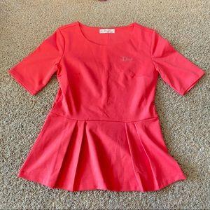 Dior D Uniforms Peplum Top size XS